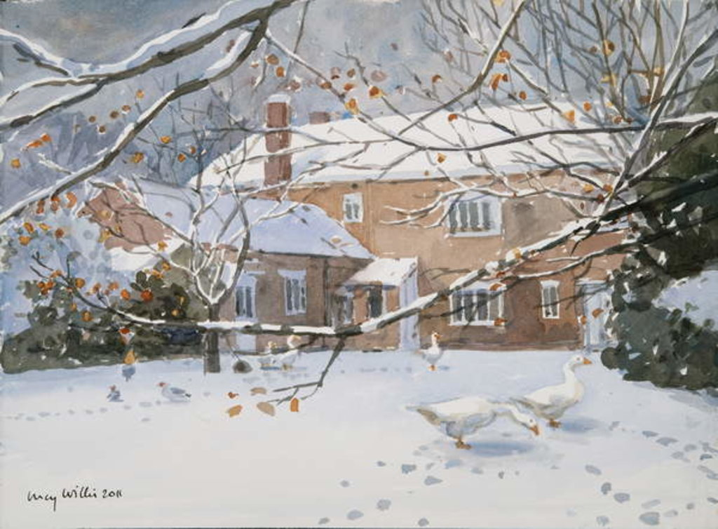Detail of Farmhouse in the Snow, 2011 by Lucy Willis
