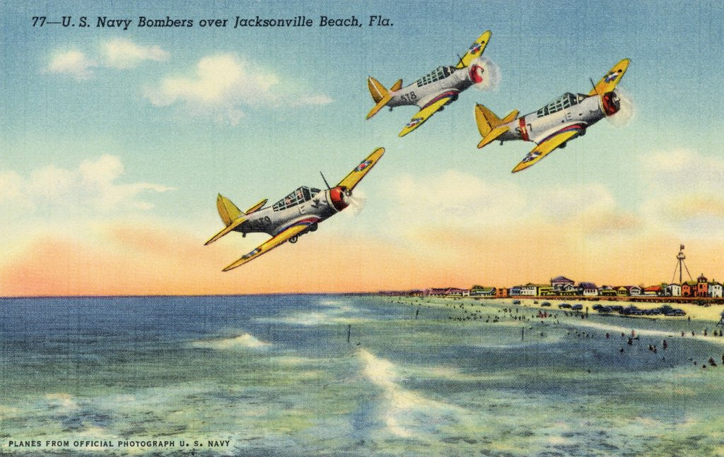 Detail of Navy Bombers over Jacksonville Beach by Corbis
