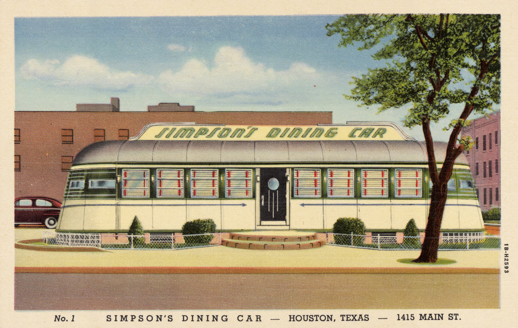 Detail of Simpson's Dining Car Restaurant by Corbis