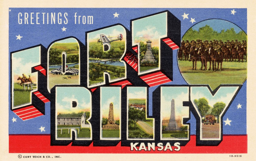 Detail of Greeting Card from Fort Riley, Kansas by Corbis
