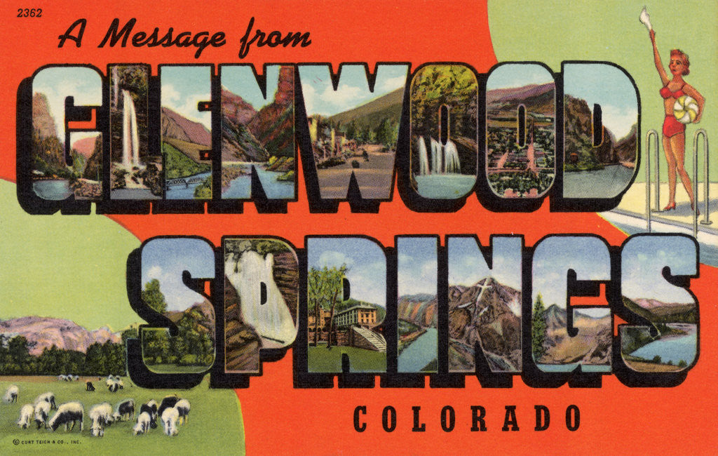 Detail of Greeting Card from Glenwood Springs, Colorado by Corbis