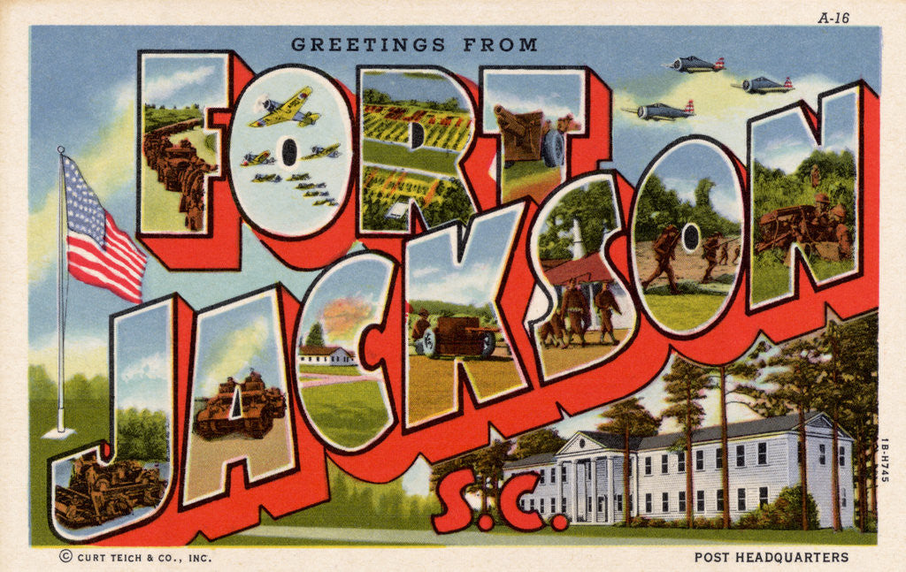 Detail of Greeting Card from Fort Jackson by Corbis