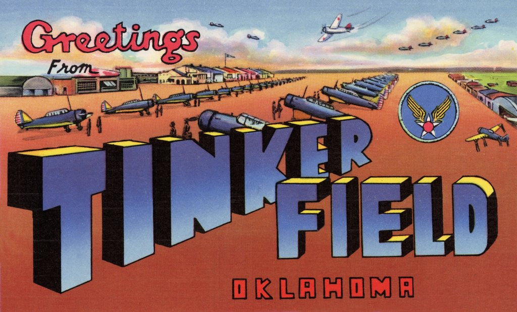 Detail of Greeting Card from Tinker Field, Oklahoma by Corbis