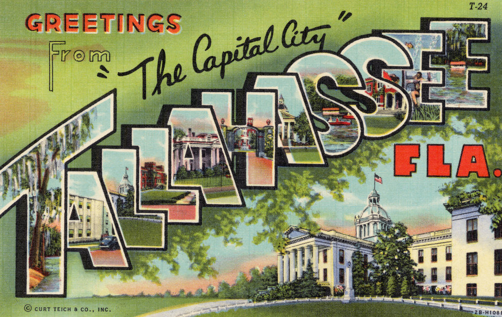 Detail of Greeting Card from Tallahassee, Florida by Corbis