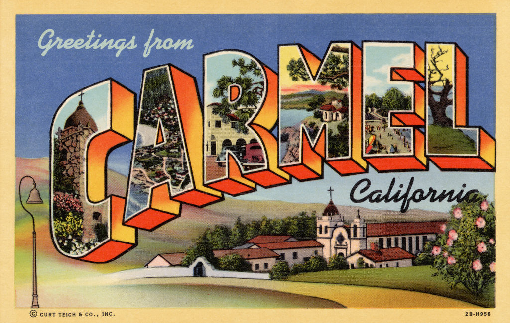Detail of Greeting Card from Carmel, California by Corbis
