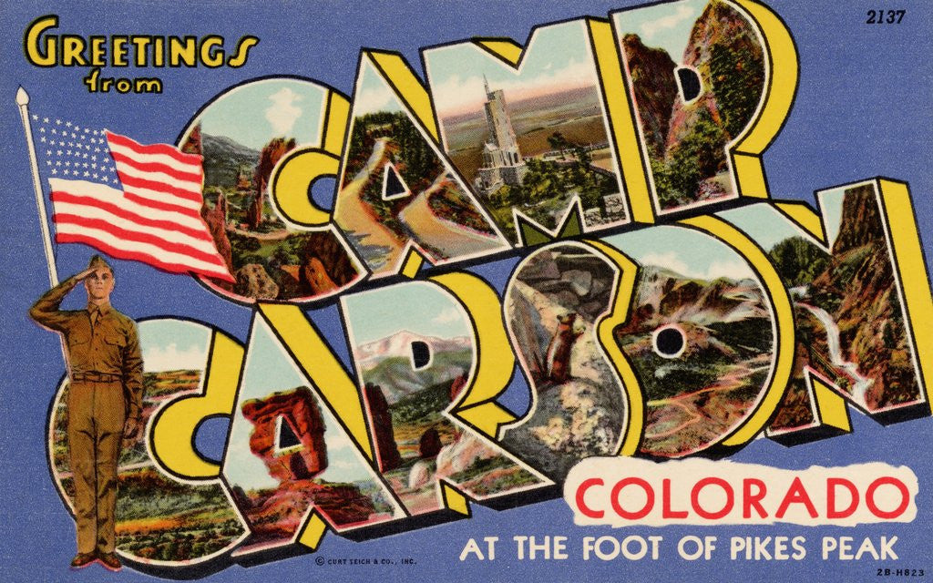 Detail of Greeting Card from Camp Carson by Corbis