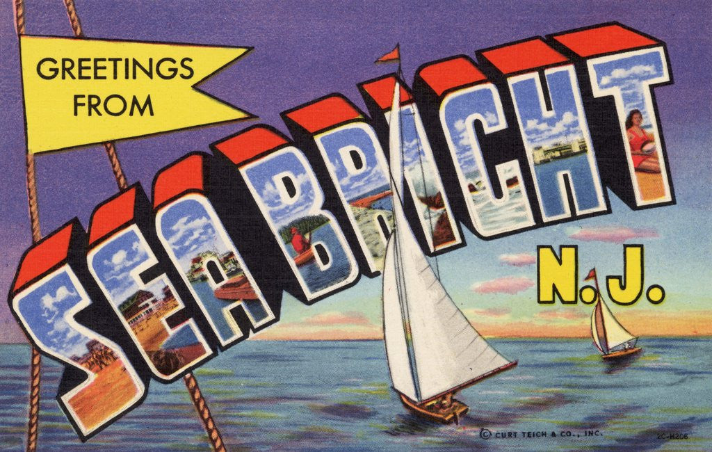 Detail of Greeting Card from Sea Bright, New Jersey by Corbis