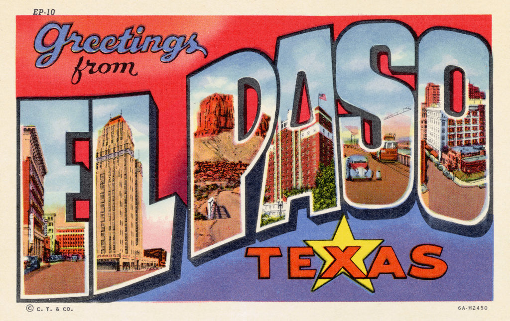 Detail of Greeting Card from El Paso, Texas by Corbis