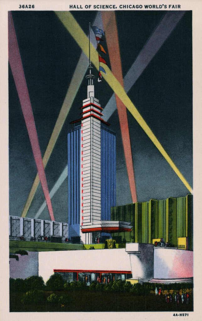 Detail of Hall of Science at Chicago World's Fair by Corbis