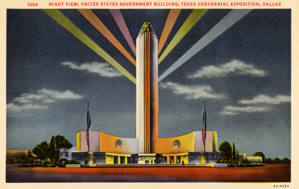 Detail of Government Building at Texas Centennial Exposition by Corbis