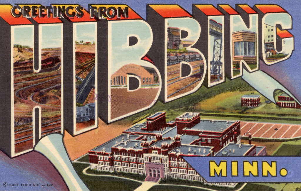 Detail of Greeting Card from Hibbing, Minnesota by Corbis