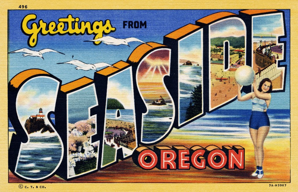 Detail of Greeting Card from Seaside, Oregon by Corbis