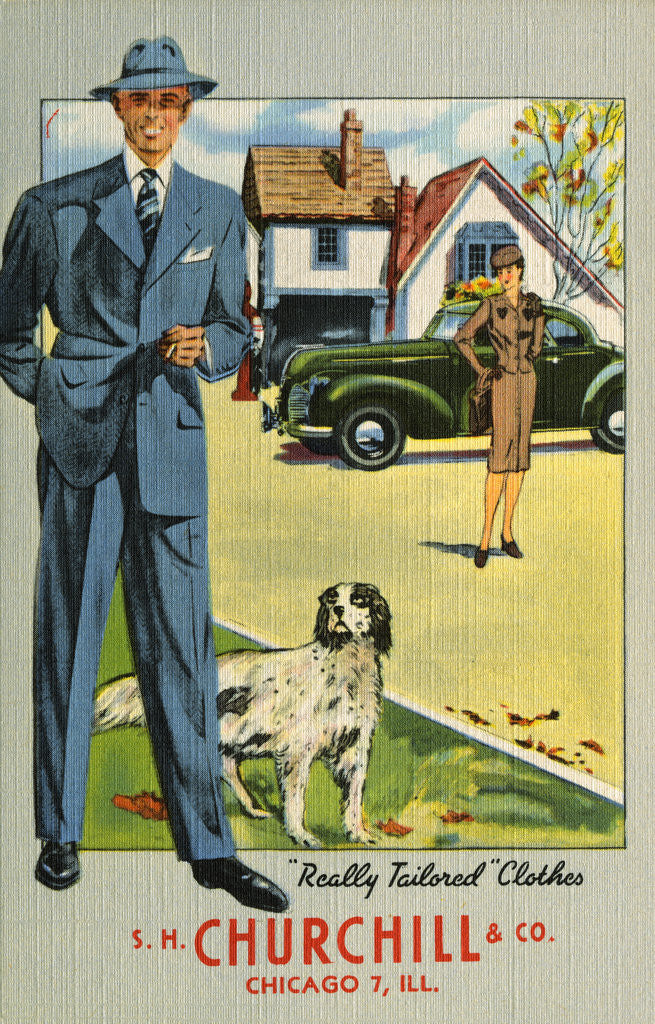 Detail of Advertisement for Tailored Clothes by Corbis