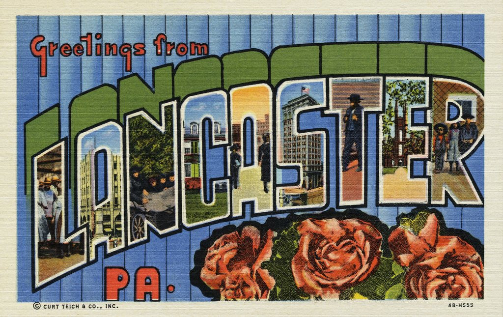 Detail of Greeting Card from Lancaster, Pennsylvania by Corbis