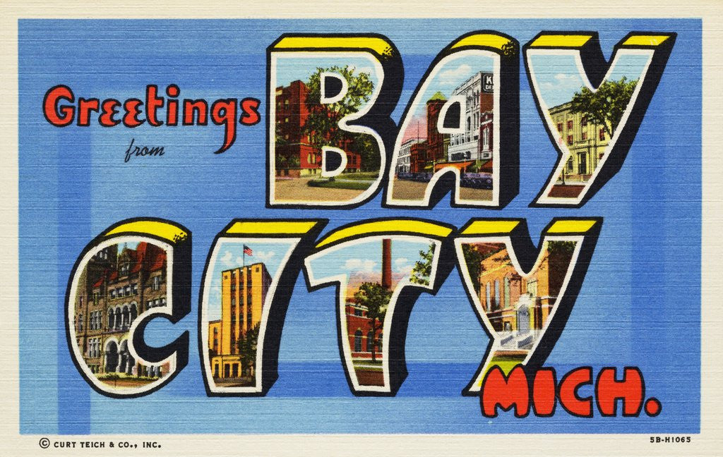 Detail of Greeting Card from Bay City, Michigan by Corbis
