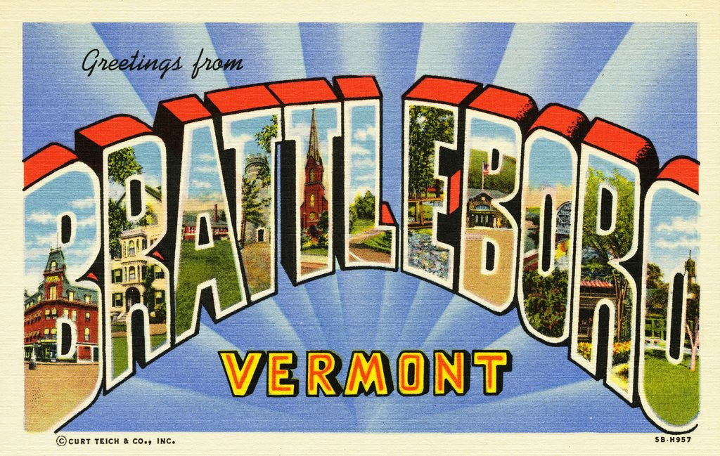 Detail of Greeting Card from Brattleboro, Vermont by Corbis