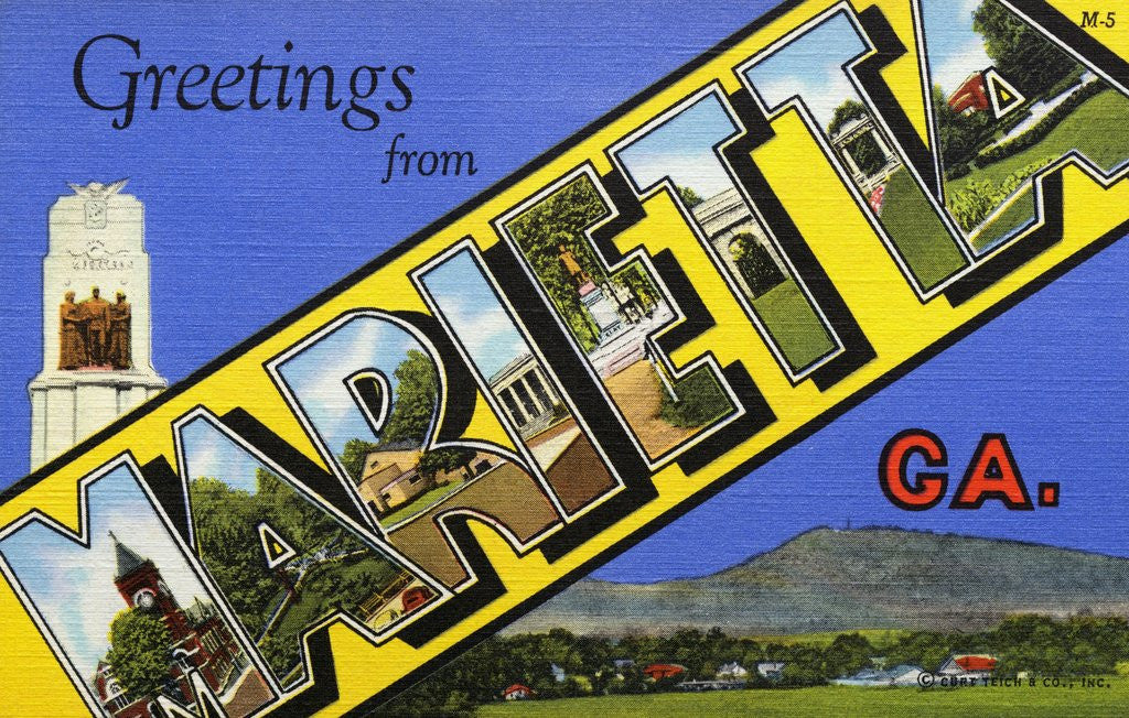 Detail of Greeting Card from Marietta, Georgia by Corbis