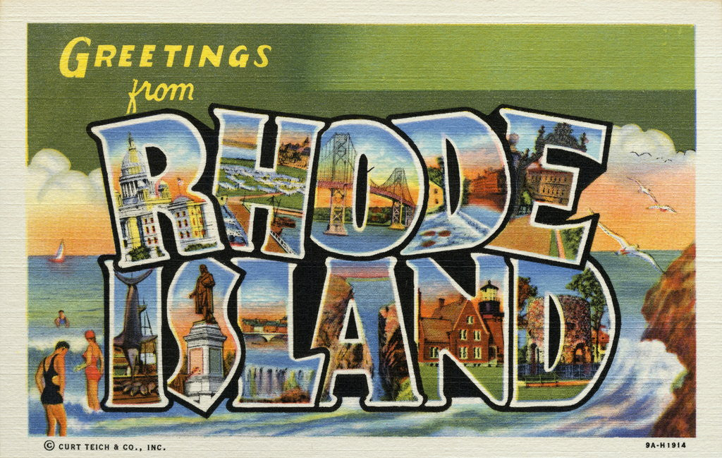 Detail of Greeting Card from Rhode Island by Corbis