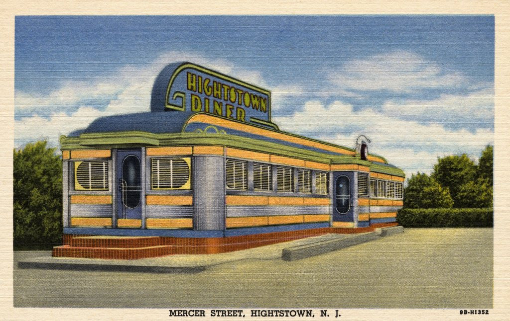 Detail of Hightstown Diner by Corbis