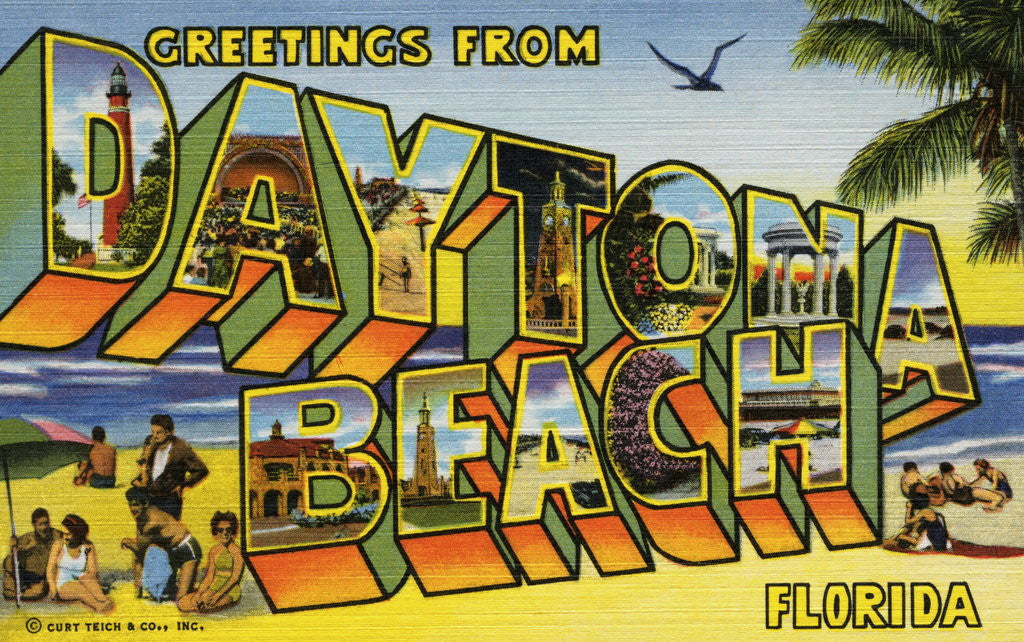Detail of Greeting Card from Daytona Beach, Florida by Corbis