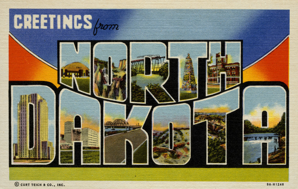 Detail of Greeting Card from North Dakota by Corbis
