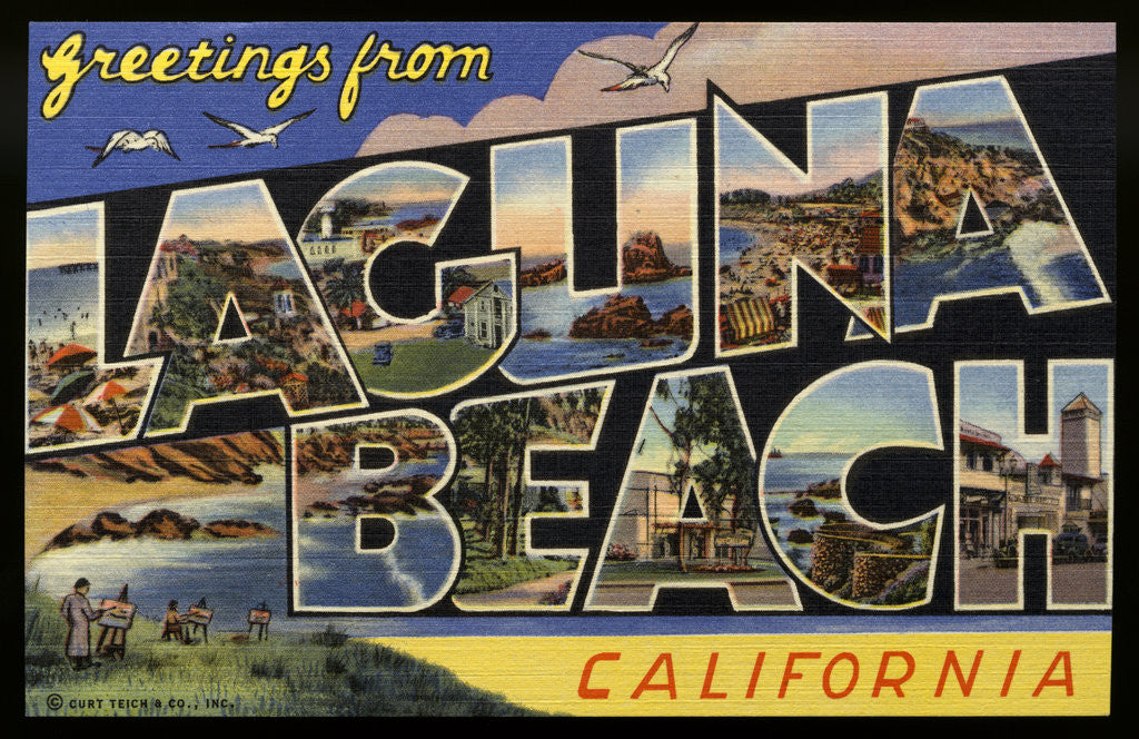 Detail of Greeting Card from Laguna Beach by Corbis