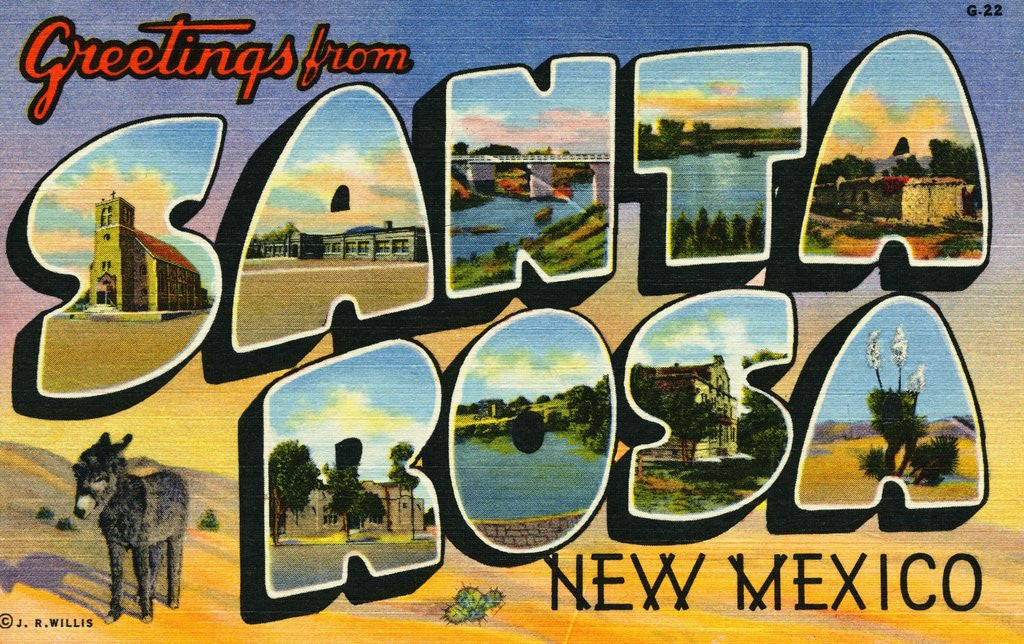Detail of Greeting Card from New Mexico by Corbis
