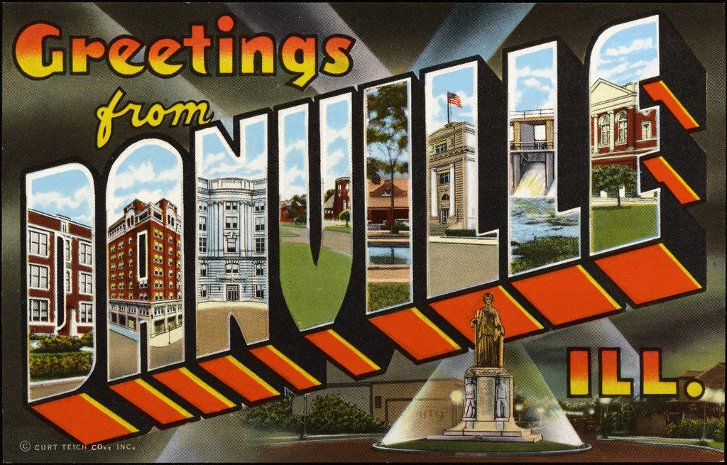 Detail of Greeting Card from Illinois by Corbis
