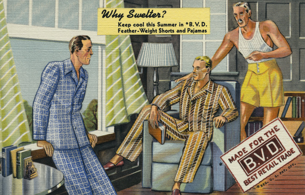 Detail of B.V.D. Shorts and Pajamas by Corbis