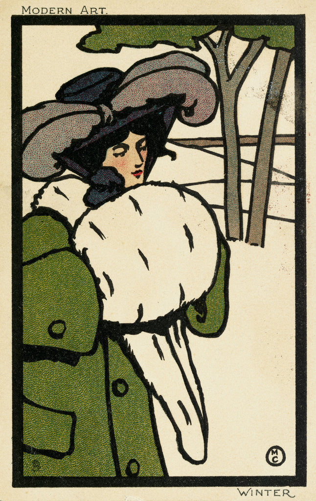 Detail of Modern Art: Winter Postcard by Corbis
