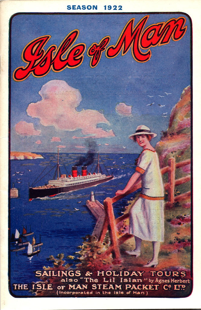 Detail of Sailings & Holiday Tours Season 1922 by Isle of Man Steam Packet Co. Ltd.