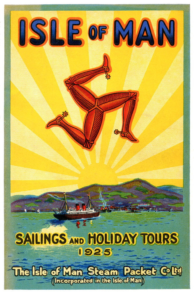 Detail of Sailings & Holiday Tours Season 1925 by Isle of Man Steam Packet Co. Ltd.