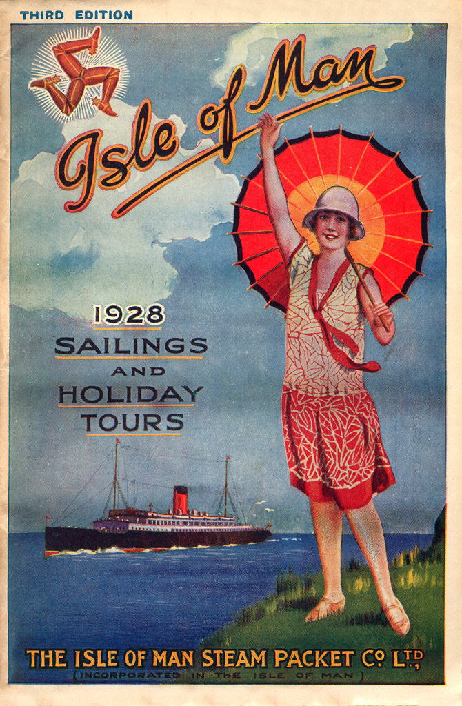 Detail of Sailings & Holiday Tours Season 1928 by Isle of Man Steam Packet Co. Ltd.