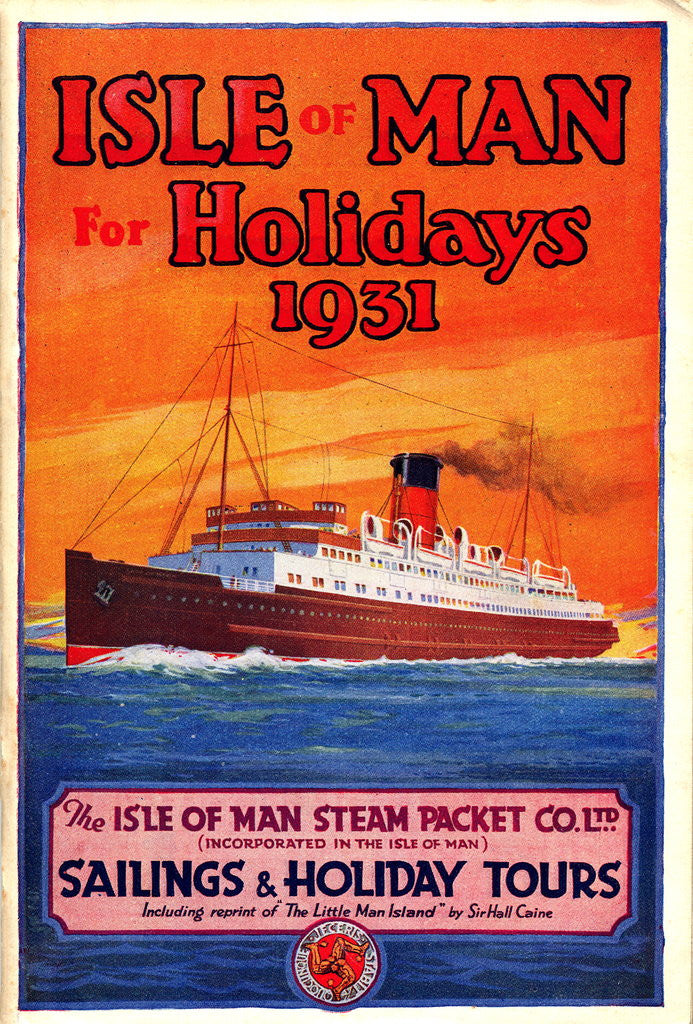 Detail of Sailings & Holiday Tours Season 1931 by Isle of Man Steam Packet Co. Ltd.
