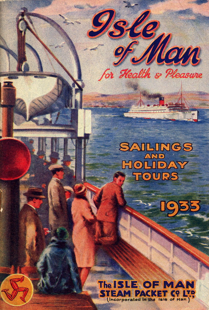 Detail of Sailings & Holiday Tours Season 1933 by Isle of Man Steam Packet Co. Ltd.