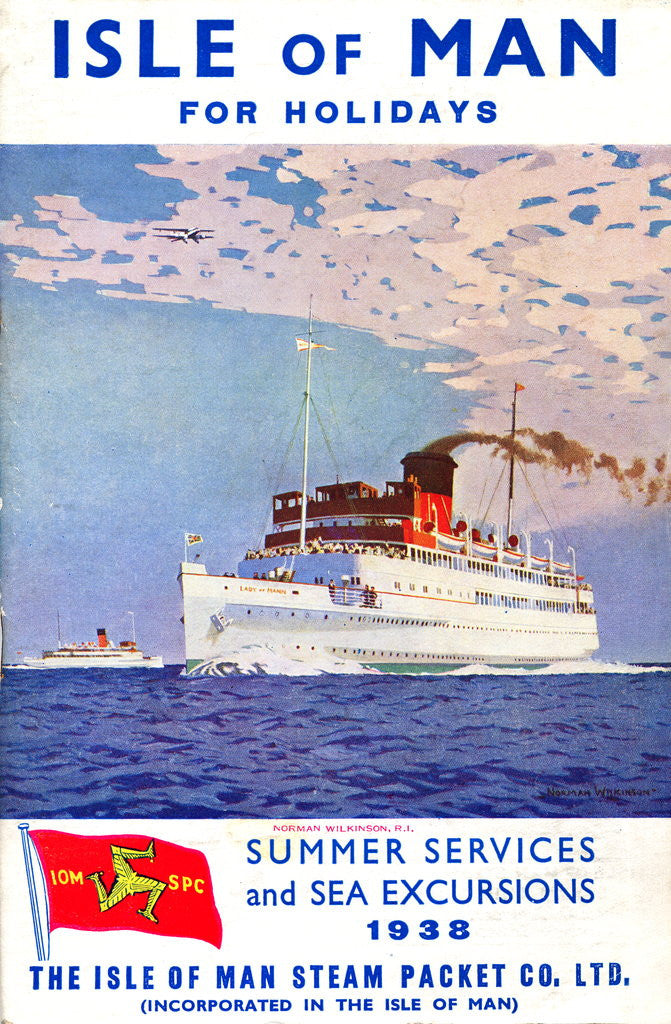 Detail of Sailings & Holiday Tours Season 1938 by Isle of Man Steam Packet Co. Ltd.