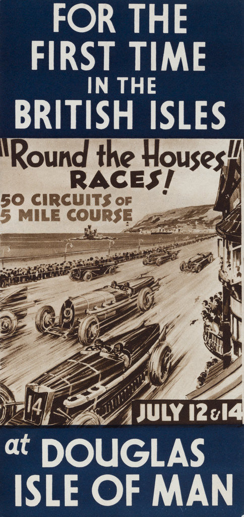 Detail of Round the Houses Races at Douglas Isle of Man July 1933 by Anonymous