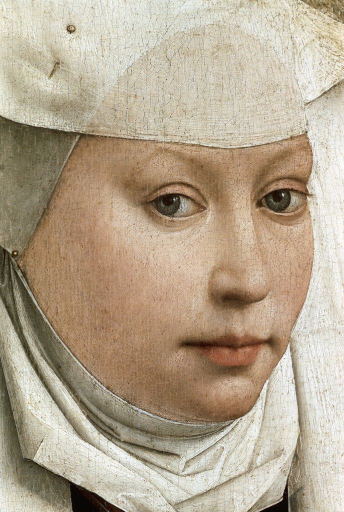 Detail of Detail of Portrait of a Young Woman by Rogier van der Weyden