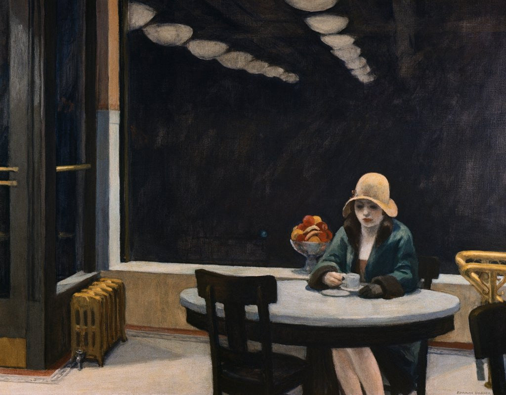 Detail of Automat by Edward Hopper