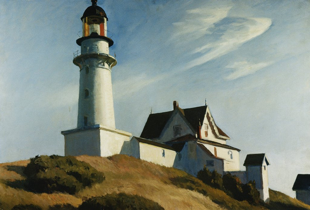 Detail of Lighthouse at Two Lights by Edward Hopper