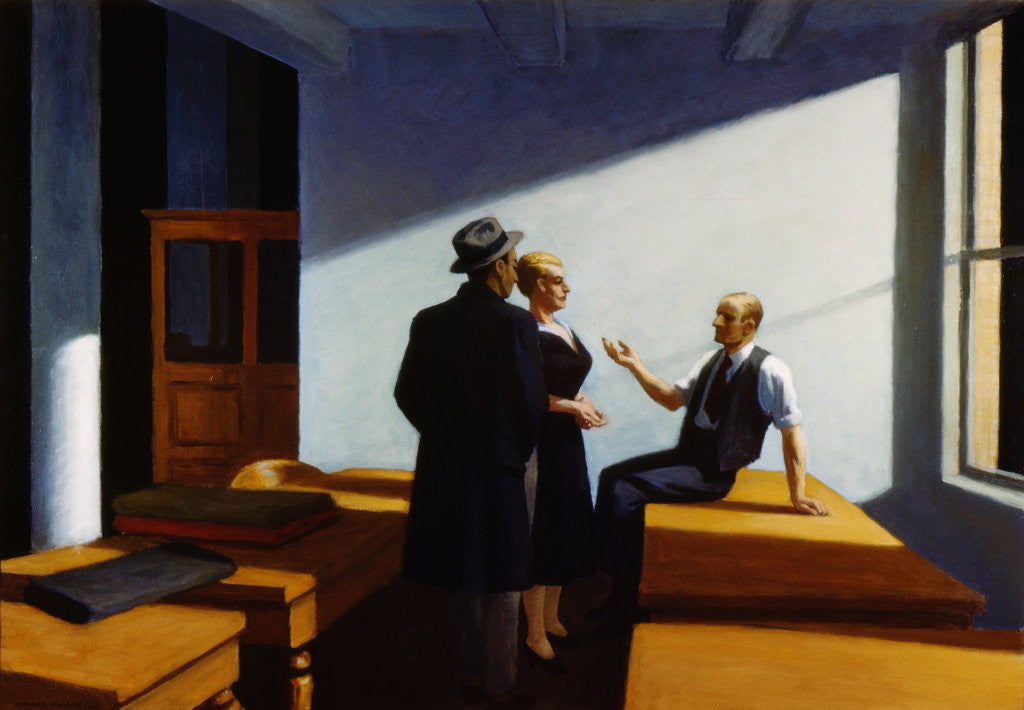Detail of Conference at Night by Edward Hopper