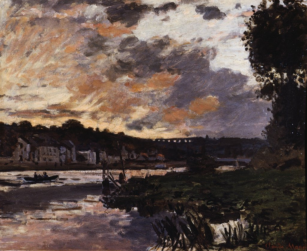 Detail of Seine at Bougival, Evening by Claude Monet