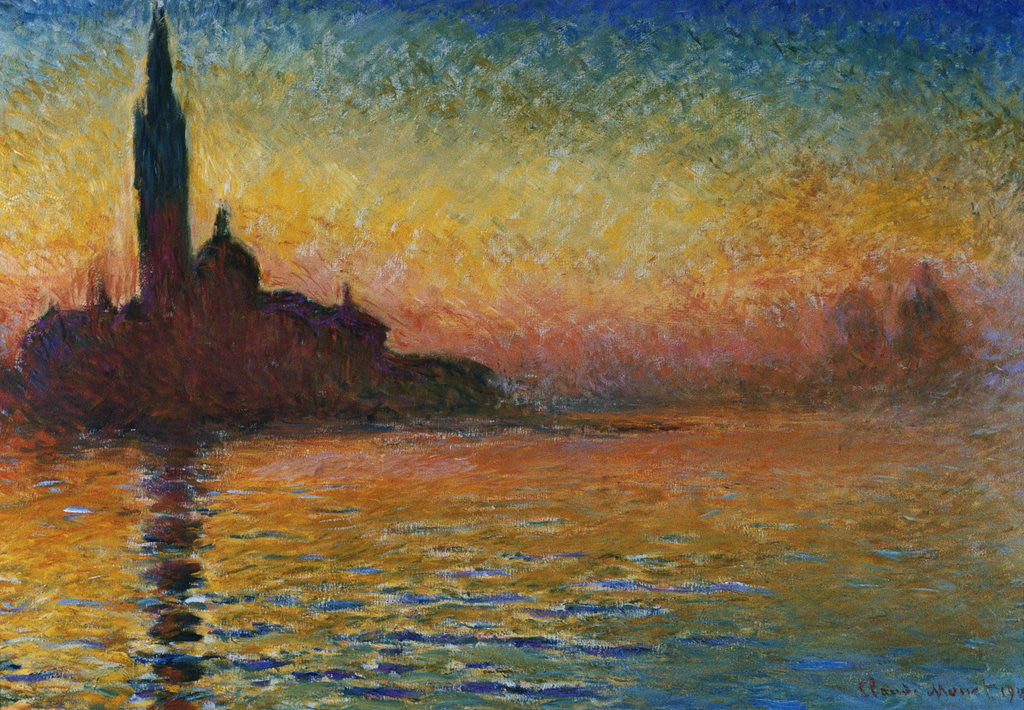 Detail of San Giorgio Maggiore at Twilight by Claude Monet