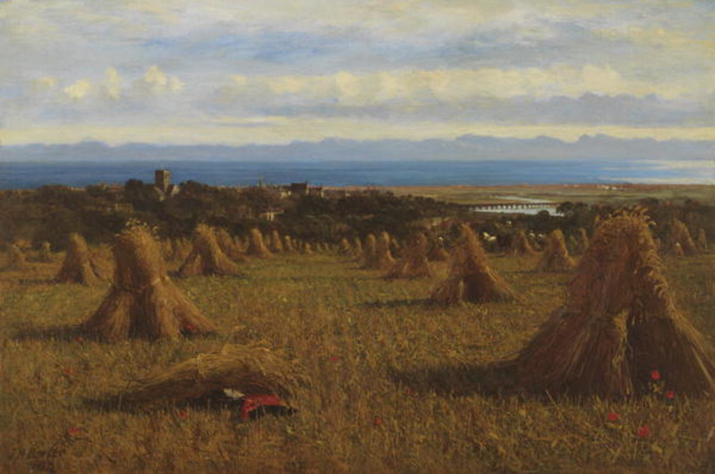 Detail of Cornstooks, Berwick Beyond, 1888 by Joseph Moseley Barber