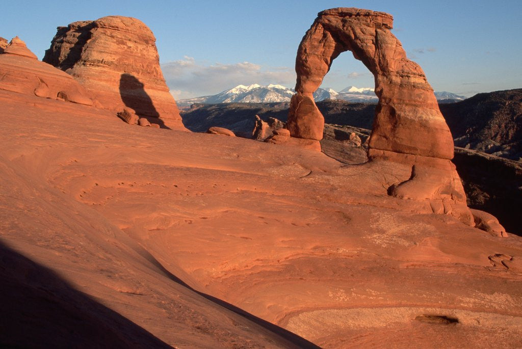 Detail of Delicate Arch in Low-Lying Sunlight by Corbis