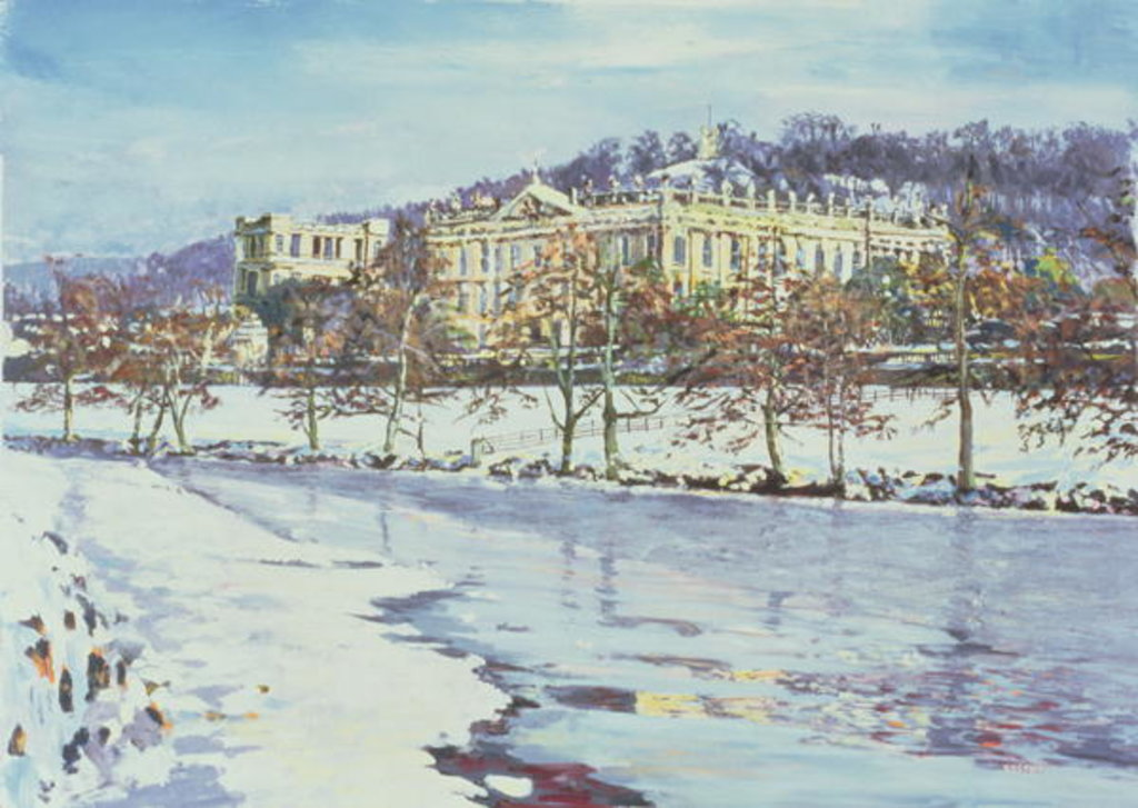 Detail of Chatsworth - Midwinter, 1996 by Martin Decent