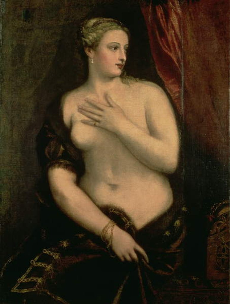 Venus Contemplating Her Reflection in a Mirror