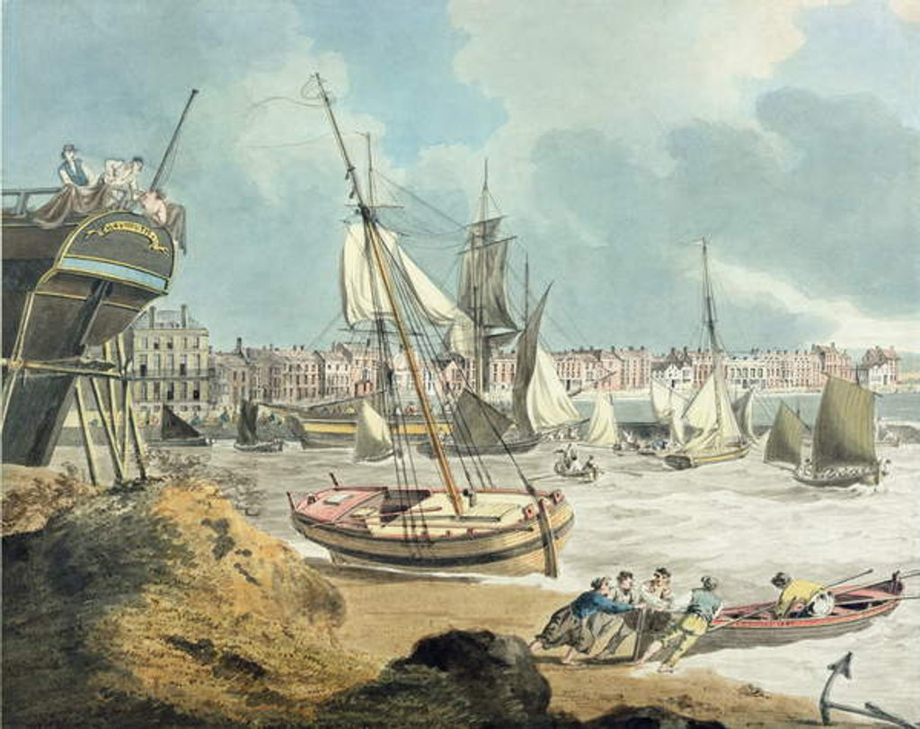 Detail of Harbour at Weymouth, Dorset, 1805 by John Thomas Serres