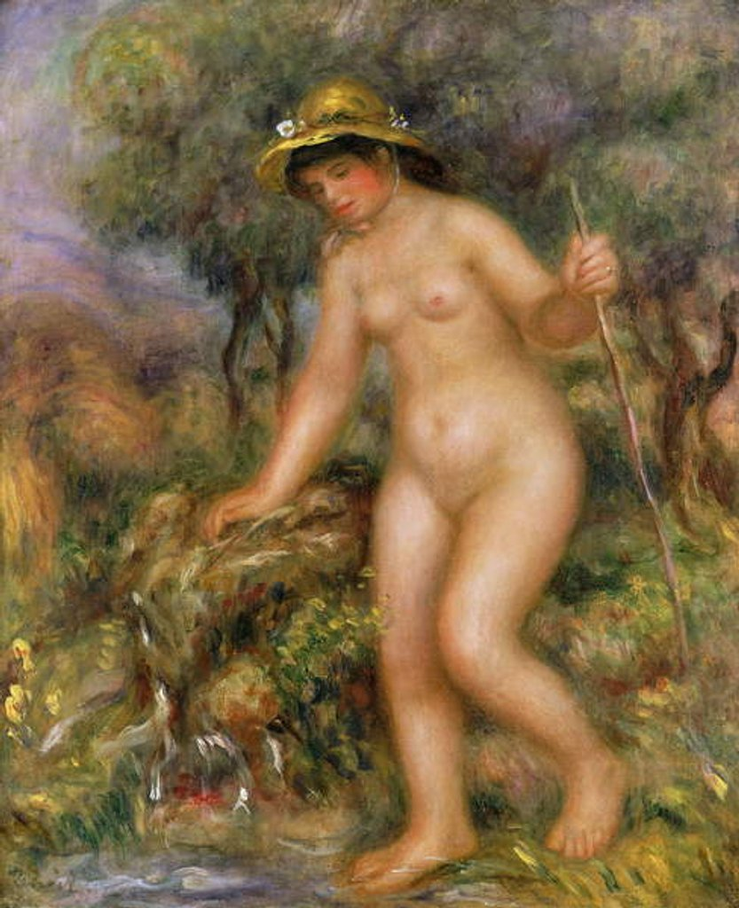 Detail of La Source or Gabrielle Nue by Pierre Auguste Renoir