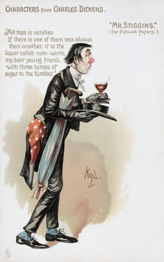 Detail of Mr. Stiggins from The Pickwick Papers by Corbis